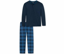 Langer Pyjama dunkelblau