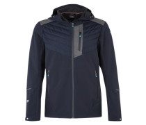 Softshelljacke 'Lefty' navy / grau