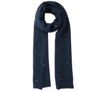 Gepunkteter Langer Schal blau