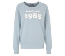 Sweatshirt 'bonjour 1985' blau
