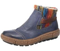 Boots taubenblau / braun / aubergine / dunkelorange