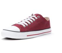 Sneaker kirschrot / weiß