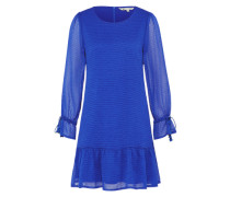 Kleid in Ciffonoptik 'dobby Dress' blau