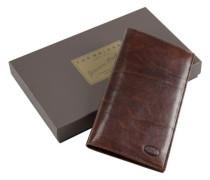 Story Uomo Brieftasche Leder 18 cm braun