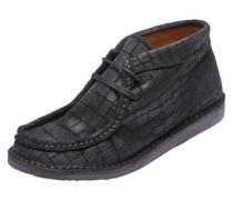 Croco-Stiefel schwarz