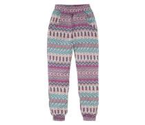 Haremshose mit Ethno-Muster für Mädchen hellblau / lila / pink / rosa