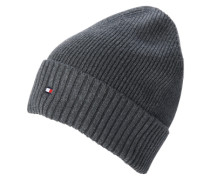 Mütze mit Kaschmir-Anteil grau