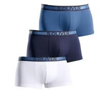 Hipster (3 Stück) marine / nachtblau / weiß