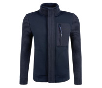 Jacke im Materialmix blau