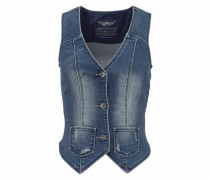 Jeansweste blau