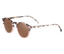 Sonnenbrille 'The Aston' braun / rosa