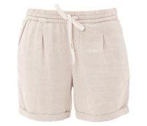 Smart Short: Samtige Chino-Shorts beige