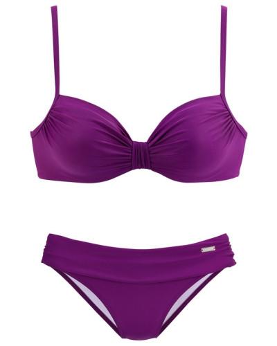 Bügel-Bikini dunkellila