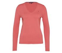 Feinstrickpullover mit V-Ausschnitt 'new IVY V-Nk Swtr' pink