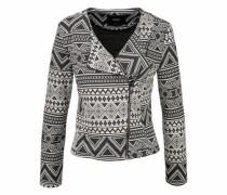 Sweatblazer »Rose« grau / schwarz / weiß
