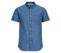 Hemd 'jordirk' blau / weiß
