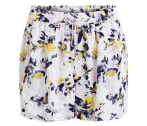 Gemusterte Shorts gelb / dunkellila / weiß