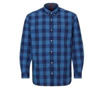 Regular: Großkariertes Hemd blau