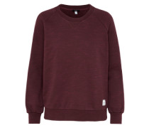 Sweatshirt 'Mixed Raglan' weinrot