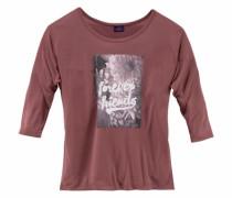 ¾ Arm Shirt mit Frontdruck rot
