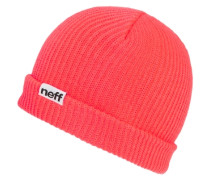 Fold Beanie neon red rot