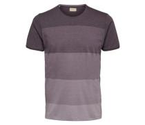 T-Shirt Rundhalsausschnitt braun