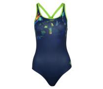 Badeanzug mit UV-Schutz dunkelblau