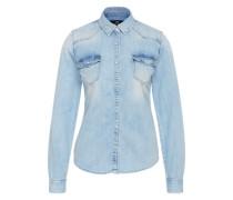 Verwaschenes Denimhemd 'Papper' hellblau