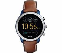 Q Explorist Ftw4004 Smartwatch (Android Wear) blau / braun