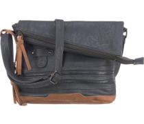 Handtasche blau / braun