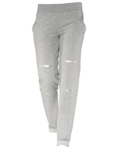 Casual-Pants graumeliert