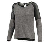 Lana Sweatshirt grau / schwarz