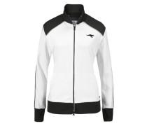 Sweatjacke schwarz / weiß