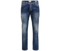 Weft med blue Regular fit Jeans blau