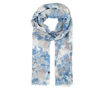 Weicher Schal mit All Over-Print blau / mischfarben