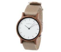 Uhr Wilma Walnut/Black braun / grau