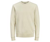 Rundhalsausschnitt Sweatshirt beige