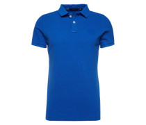 T-Shirt 'vintage Destroy S/S Pique' kobaltblau
