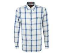 Regular: Groß kariertes Langarmhemd mischfarben