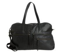 Leder-Freizeittasche schwarz