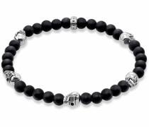 Armband 'Totenkopf A1097-023-11' schwarz / silber