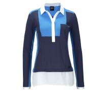 Poloshirt marine / rauchblau / weiß