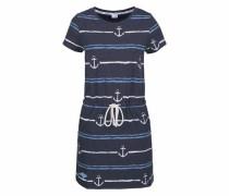 Shirtkleid marine / hellblau / weiß