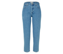 Jeans 'cropped Straight' blue denim