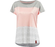 Oversize Shirt hellgrau / rosa