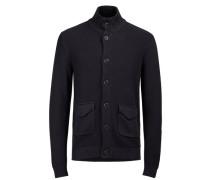 Workwear-Strickjacke blau