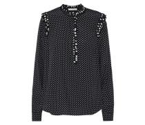 Gepunktete Bluse 'Bluse' schwarz / weiß