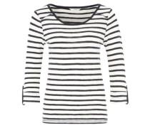 Shirt mit Krempelärmel 'Onljess' blau / weiß