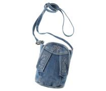 Trachtentasche in Jeansoptik blau