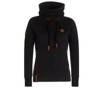 Sweatshirt 'Debil mit Stil Iii' schwarz